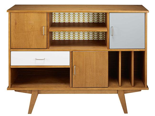 Paulette vintage-style bookcase at Maisons Du Monde