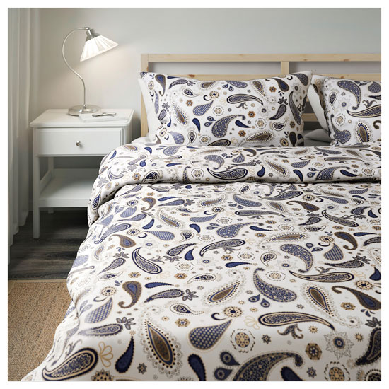 Sotblomster retro paisley bedding at Ikea