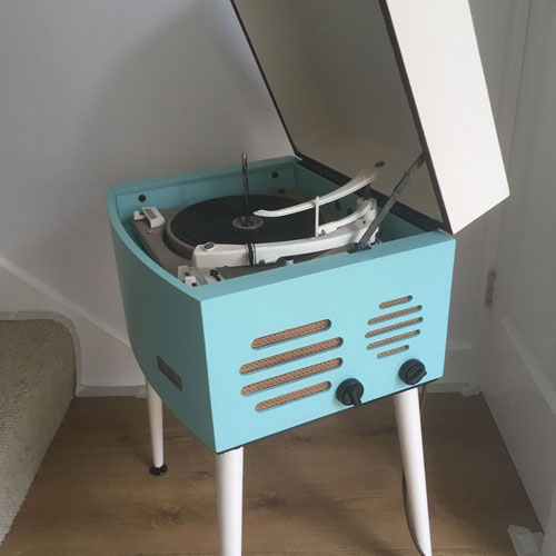 Restored 1960s Pye Black Box record player on eBay