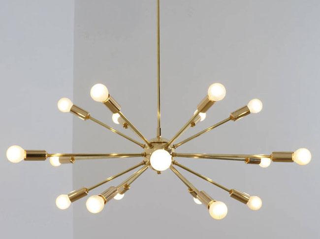 Handmade retro Sputnik light fittings by Inscapes Design