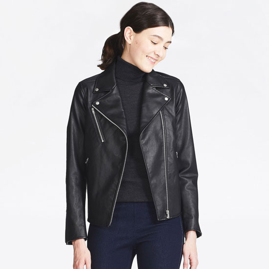 Classic biker jacket for women at Uniqlo
