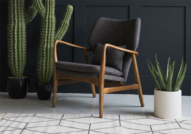 Aarhus Mid Century armchair and sofa at Rose & Grey