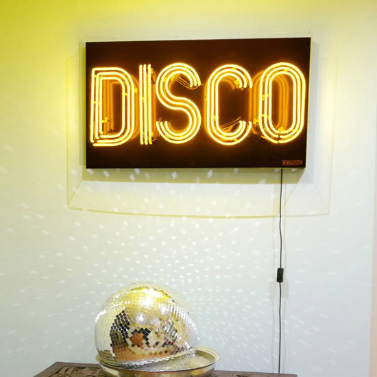 Disco neon light sign by Brilliant Neon