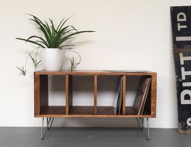 Sonor record storage unit by Derelict Design