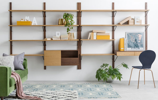 Jory retro-style modular shelving at Made