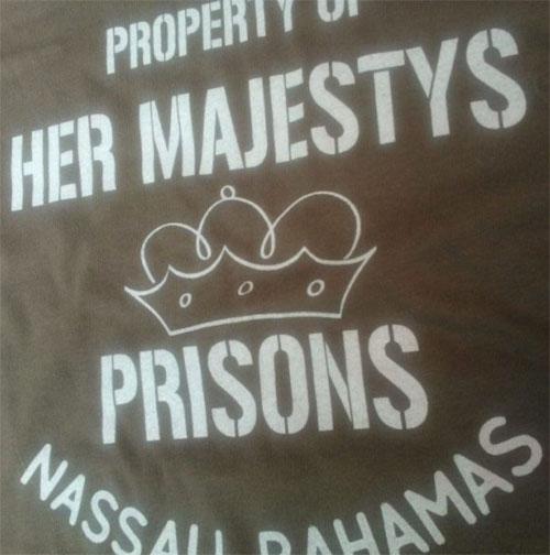 John Lennon style: Bahamas Prison t-shirt by Gama Clothing