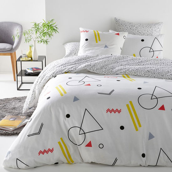 1980s-style Geometric bedding at La Redoute