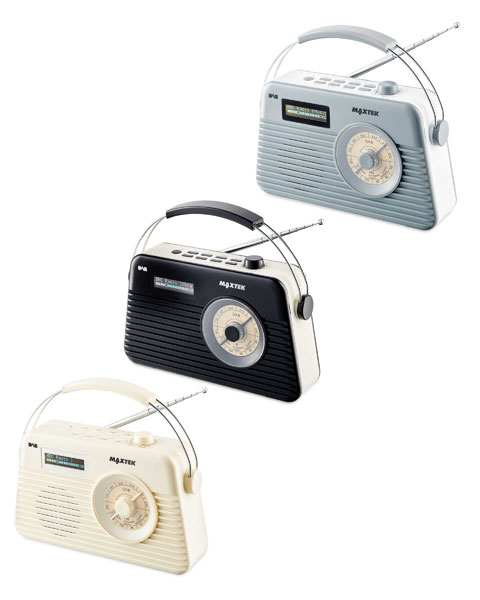 Budget sounds: Retro Maxtek DAB radio at Aldi