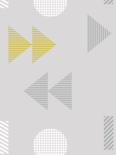 1980s-inspired Play/Record wallpaper by Mini Moderns