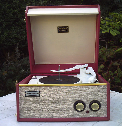 Restored 1962 Dansette Tempo record player on eBay