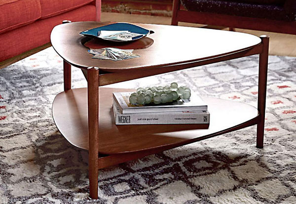 1960s-style Tripod coffee table by West Elm