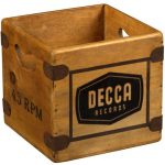 Vintage-style wooden record crates on eBay