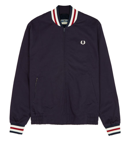 A classic returns: Fred Perry Original Tennis Bomber in navy blue