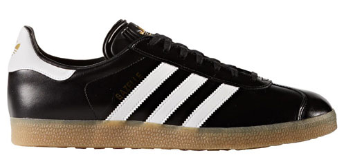 intencional auxiliar También  Adidas Gazelle trainers back in black leather