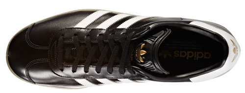 Adidas Gazelle trainers back in black leather
