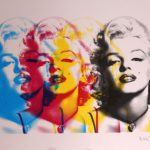 Affordable pop art: Marilyn Monroe print by Russell Marshall