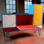 Bespoke Mondrian-inspired cabinet on eBay