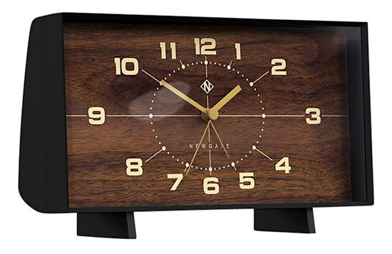 The Wideboy retro-style mantle clock by Newgate