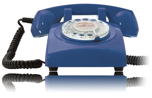 Opis 60s Cable vintage-style home phones