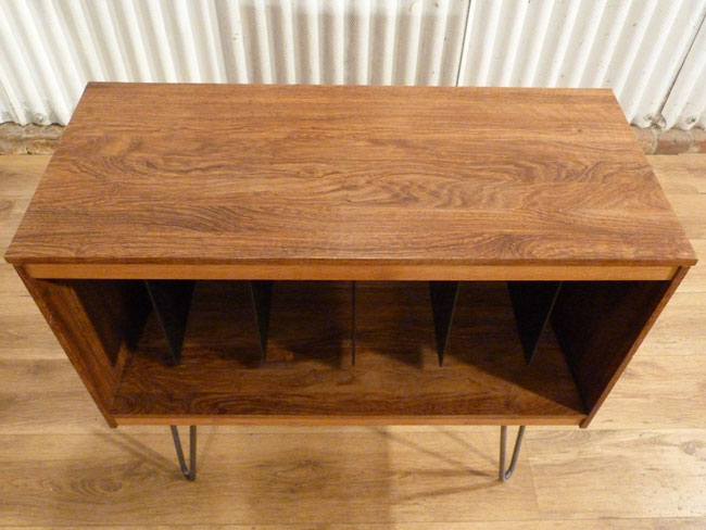 Upcycled midcentury record cabinet at eBay