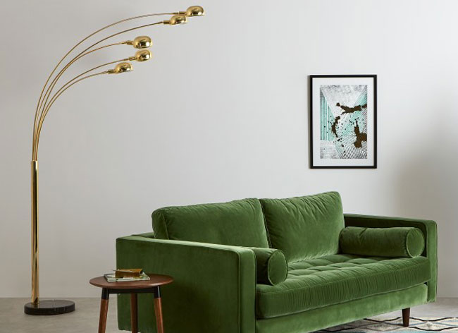 1960s-style Senk floor lamp at Made