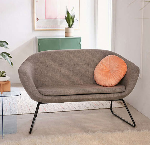 Midcentury-style Robertson sofa and armchair at Urban Outfitters