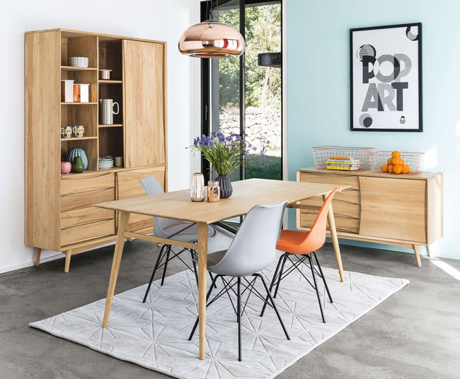 Almond midcentury-style storage at Maisons Du Monde