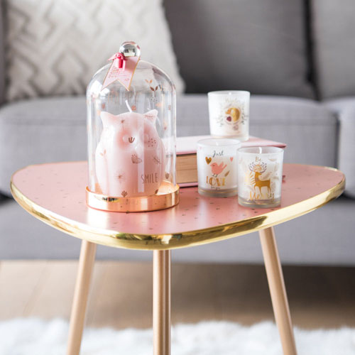 1950s-style Blush side table at Maisons Du Monde