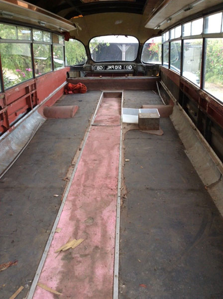 Classic 1958 Bedford Bus for renovation on eBay