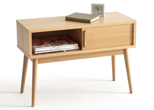 Clairoy midcentury-style bedside table at La Redoute