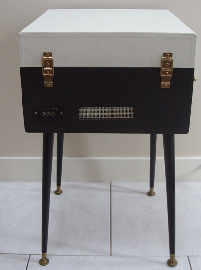 Refurbished 1960s Dansette Bermuda record player with legs on eBay