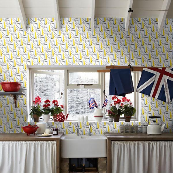 Retro walls: Sailing Boats wallpaper by Layla Faye