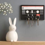 Cassette tape whiteboard key holder by The Binary Box