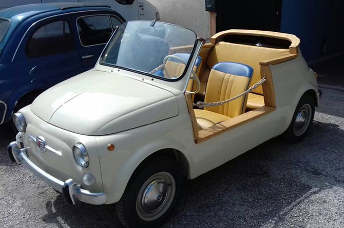 1967 Fiat 500 F Model Spiaggina replica on eBay