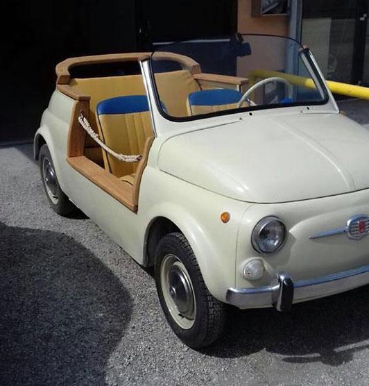1967 Fiat 500 F Model Spiaggina replica on eBay