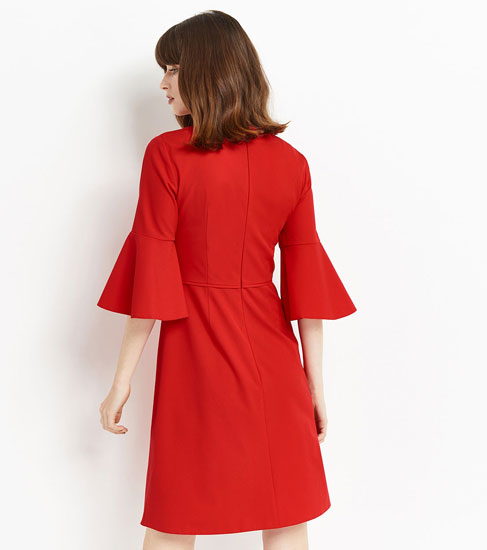 1960s-style flute sleeve dress at Oasis