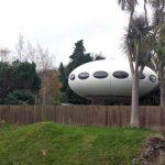 Retro house: 1960s Matti Suurinen-designed Futuro House in Warrington, New Zealand