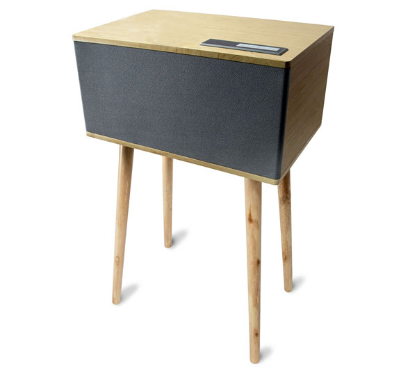 Budget audio: Midcentury-style Bluetooth freestanding speaker at Kmart