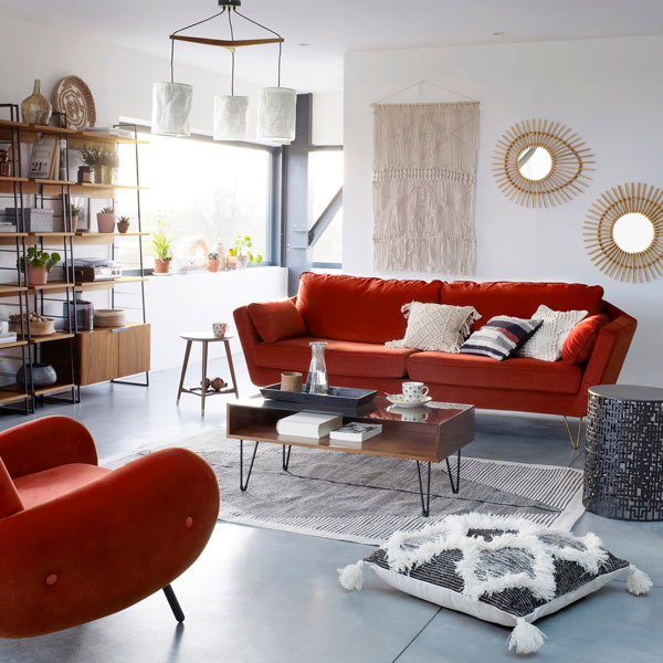 Watford midcentury-style shelving system at La Redoute