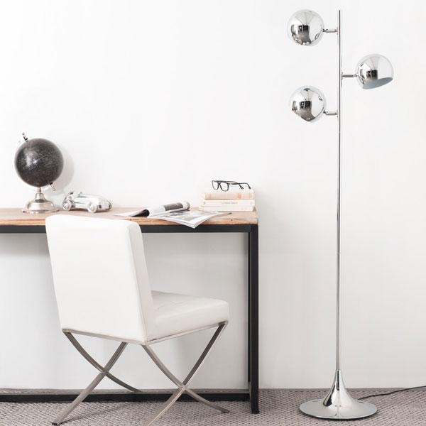 Retro Trio chrome floor lamp at Maisons Du Monde