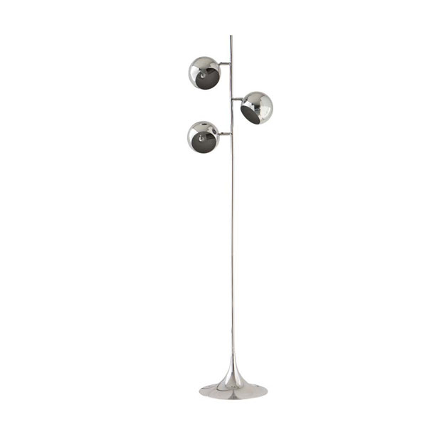 Retro Trio chrome floor lamp at Maisons Du Monde