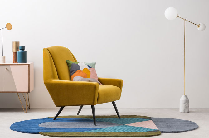 1960s-style Roco Chair range at Made