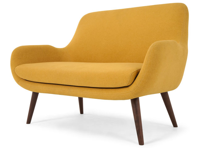 Moby two-seater retro sofa at Made