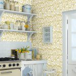 1960s-style Mod Meadows wallpaper by Layla Faye