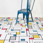 Mondrian-inspired flooring at Atrafloor
