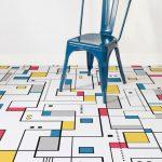 Mondrian-inspired flooring at Atrafloor