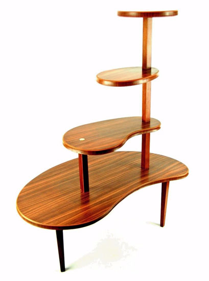 Vintage wood effect plant stand on eBay