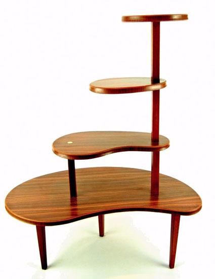 Vintage wood effect plant stand on eBay