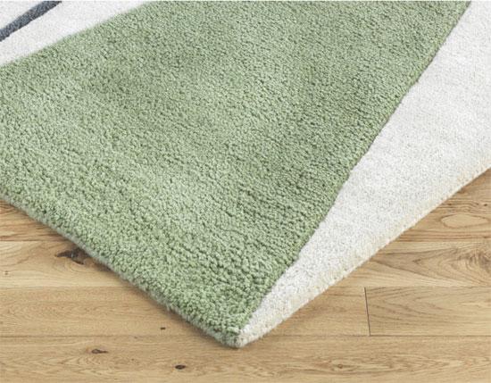 Forma midcentury-style wool rug at Habitat
