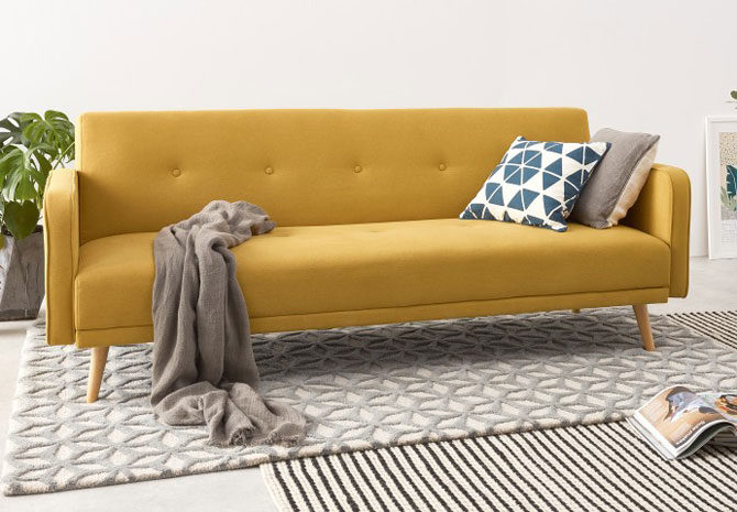 Midcentury-inspired Chou sofa bed gets a colour update at Made